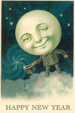 Smiling Moon Doffing Hat