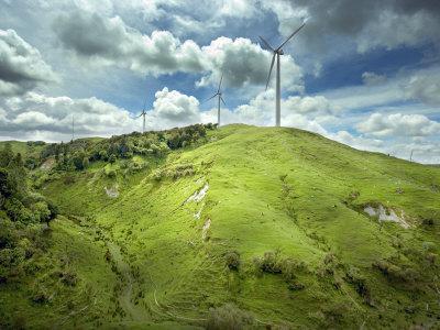 Te Apiti Wind Farm, on the Lower Ruahine Ranges, Manawatu, North Island, New Zealand, Pacific