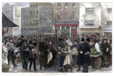 Sunday Morning in the New Cut, Lambeth, 1872