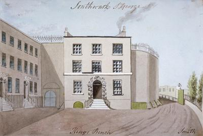 View of King's Bench Prison in St George's Fields, Southwark, London, C1820