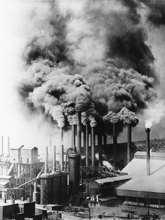 Smokestacks Polluting Pittsburgh