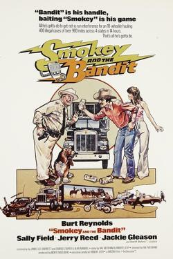 Smokey and the Bandit, from Left: Jackie Gleason, Burt Reynolds, Sally Field, 1977