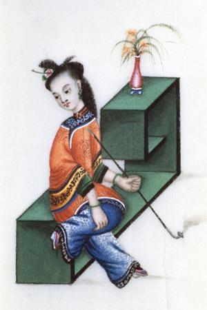 Smoking Opium, Mid 19th Century