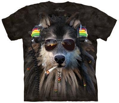 Smoking Rasta Wolf
