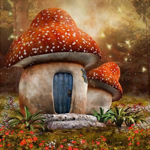 Smurfs Mushroom Meadow Cottage