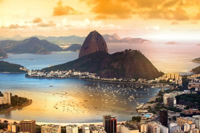 Rio De Janeiro, Brazil in Twilight by SNEHIT