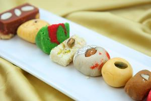 Assorted Colorful Sweets of India by SNEHITDESIGN