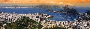 Panoramic View Of Rio De Janeiro, Brazil Landscape by SNEHITDESIGN