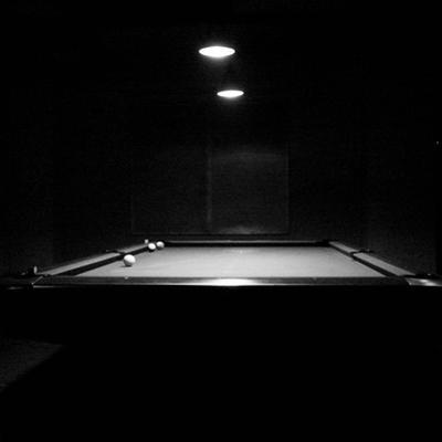 Pool Table with Balls in Dark by sner3jp