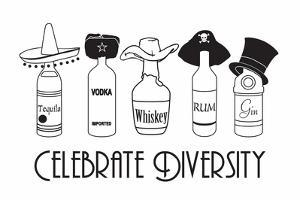 Celebrate Diversity Snorg Tees Plastic Sign by Snorg