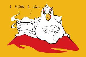 Chicken and Egg Snorg Tees Poster by Snorg