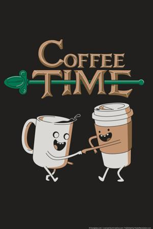 Coffee Time Snorg Tees Plastic Sign by Snorg