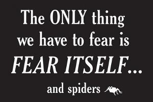 Fear Spiders Snorg Tees Plastic Sign by Snorg