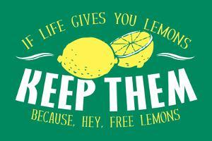 Free Lemons Snorg Tees Poster by Snorg