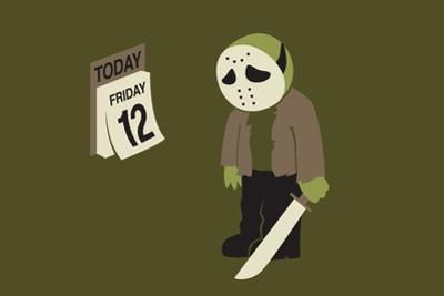 Friday the 12th Snorg Tees Poster by Snorg