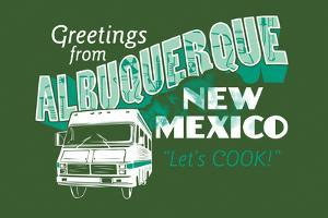 Greetings From Albuquerque New Mexico Snorg Tees Poster by Snorg