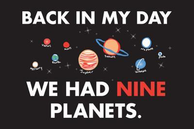 Nine Planets Snorg Tees Plastic Sign by Snorg