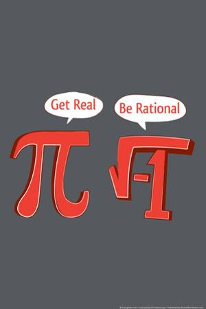 Pi Get Real Snorg Tees Poster by Snorg