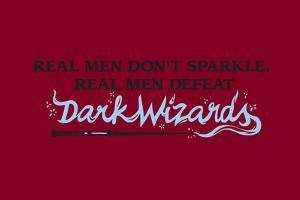 Real Men Defeat Dark Wizards Snorg Tees Plastic Sign by Snorg