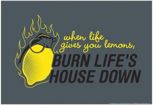 Burn Life's House Down by Snorg Tees