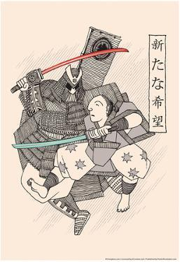 Light Katana Fight by Snorg Tees