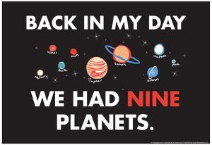 Nine Planets by Snorg Tees
