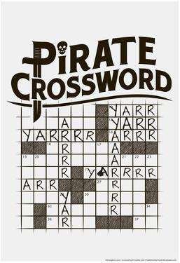 Pirate Crossword by Snorg Tees
