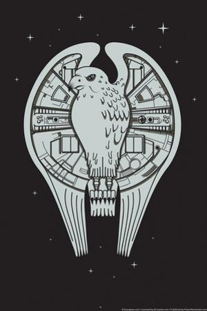The Fastest Falcon in the Universe Snorg Tees Poster