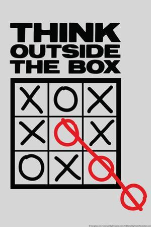 Think Outside The Box Snorg Tees Poster