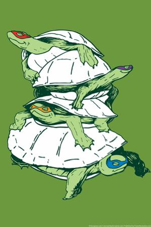 Turtles Snorg Tees Poster by Snorg