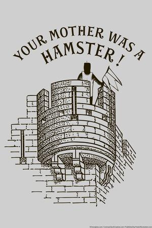 Your Mother Was A Hamster Snorg Tees Poster