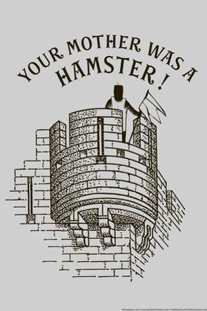 Your Mother Was A Hamster Snorg Tees Poster by Snorg