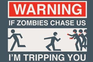 Zombie Chase Snorg Tees Poster by Snorg
