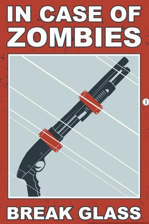 Zombies Break Glass Snorg Tees Plastic Sign
