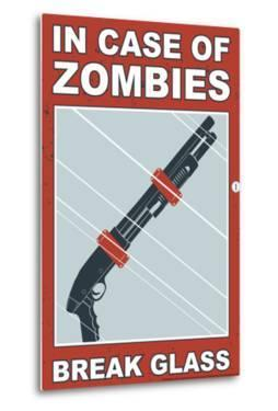 Zombies Break Glass Snorg Tees Poster by Snorg