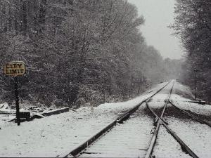 Snow Blanketed Railroad Tracks, Courtland, Virginia