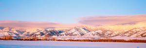 Snow Covered Mountains, Bridger Mountains, Rocky Mountains, Bozeman, Gallatin County, Montana, USA