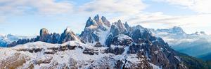 Snow Covered Mountains, Dolomites, Dolomiti Di Sesto Nature Park, Hochpustertal, Alta Pusteria