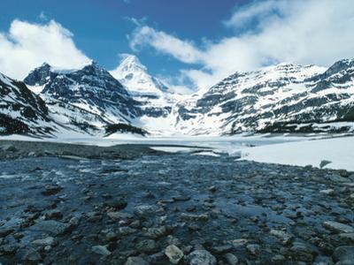 Snow-Covered Mountains - Rockies, Mount Assiniboine, Gloria Lake