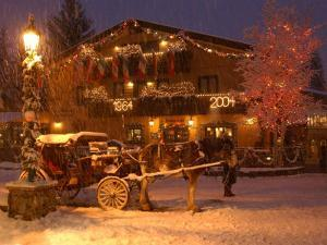 Snow from a Winter Storm Begins to Accumulate in Vail, Colo.