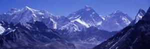 Snow on Mountains, Goyko Valley, Mt Everest, Khumbu, Nepal