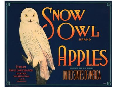 Snow Owl Brand Apples