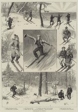 Snow-Skating in Norway