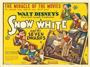 Snow White and the Seven Dwarfs, UK Movie Poster, 1937