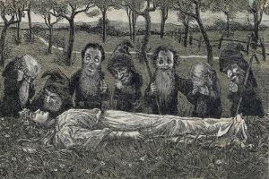Snow White or Little Snowdrop Is Found by Dwarfs