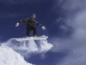 Snowboarder Flying Through the Air, USA