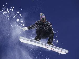 Snowboarder Flying Throught the Air, USA