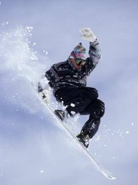 Snowboarder Flying Throught the Air