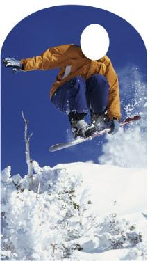 Snowboarder Lifesize Stand-In