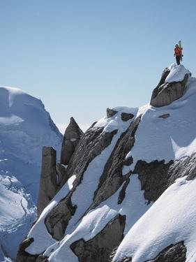 Snowboarder on the mountain